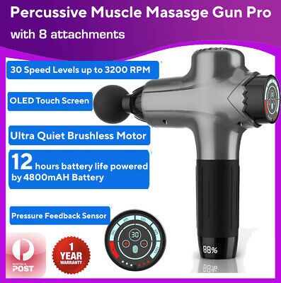 Dual Channel TENS Machine Unit Body Pain Relief Massager Physio Portable Lrg LCD