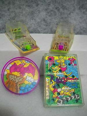 ~WENDY'S~1990'S~2 DINO GAMES~&~PIN BALL~LOT OF 4~