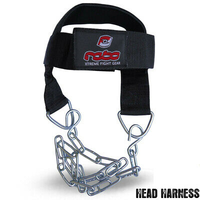 Weight Lifting Head Harness for Neck Exercise With Chrome Chain Adjustable Strap