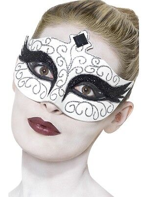 Adult Female Gothic Swan Eyemask Halloween Smiffys Fancy Dress Costume Accessory