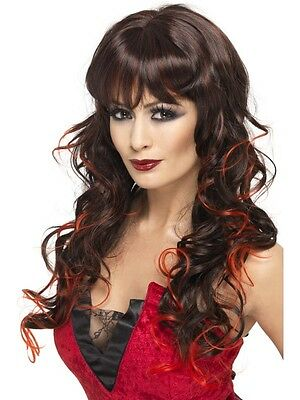 Adult Female Vixen Wig, Black And Red Halloween Smiffys Costume Accessory