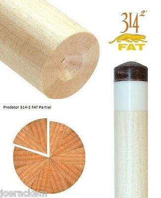 25% OFF Predator 314-2 FAT Partial Unfinished Shaft - Match Your Cue Shaft Blank