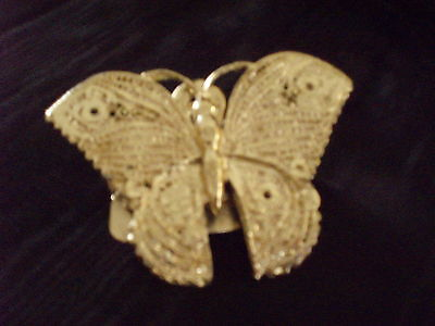 Vintage Art Deco BOSTON Gold tone Butterfly Clip Paperweight