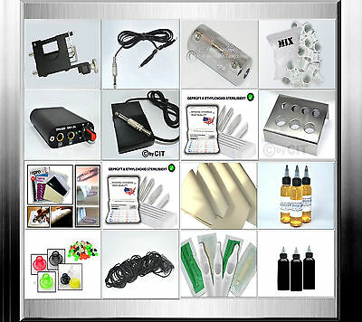 Tattooset  (R1 Deluxe) Komplettset Rotary Tattoomaschine Tattoo Set Tattoofarbe