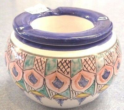 Vietri pottery-2 Piece Ashtray,Made/painted by hand in ITALY