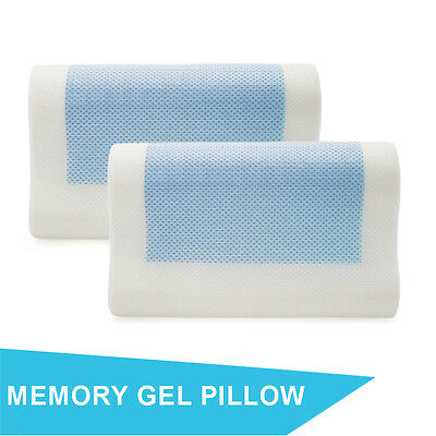 Hypo-Allergenic Contour Memory Foam Pillow with Cooling Gel Layer