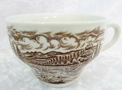 Crown Ducal Bridge Scenes (brown) - Tea Cup vgc (no saucer)  3 cups available