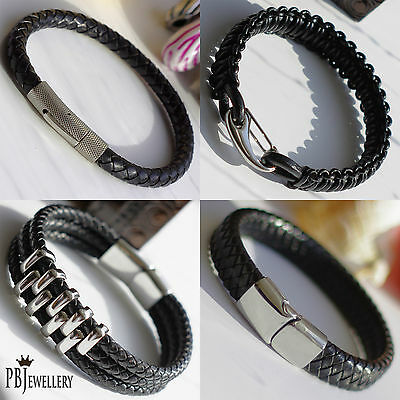 Mens Bracelet - High Quality Real Leather