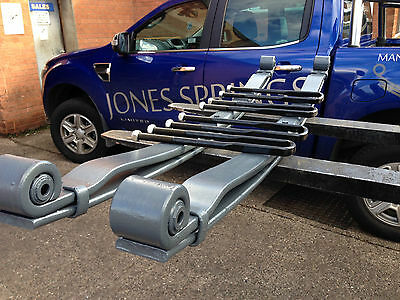 Pair Of Daf 45 Lf 7.5T Heavy Duty 2 Leaf Rear Springs Complete With U Bolts