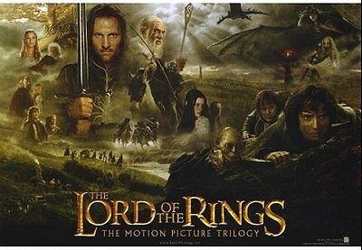 LORD OF THE RINGS TRILOGY - Movie Poster Flyer - 13.5x20