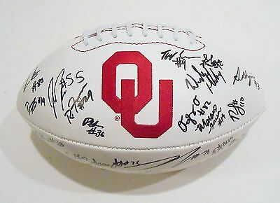 2014 Oklahoma Sooners Team Signed Full Size Football w/COA