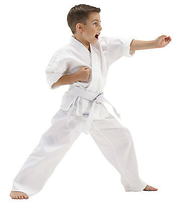 Robust Karate Suit Kids Children Martial Arts Uniform 100% Cotton+Belt All Sizes