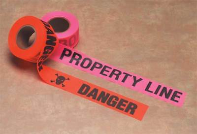 PRESCO PRODUCTS CO CUPGBK51-188 Flagging Tape,Property Line,Pink Glo
