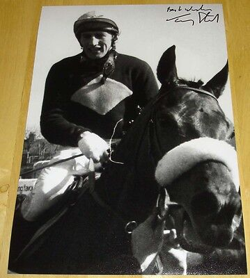 Tommy Stack Red Rum Hand Signed 12X8 Photo  Grand National