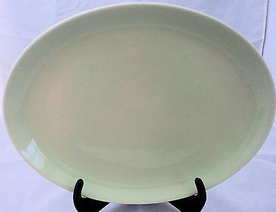 Mid 20th Century Russel Wright Light Green Oval Serving Platter Iroquois Pottery