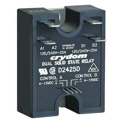 Dual Solid State Relay,4 to 15VDC,40A CRYDOM D2440D
