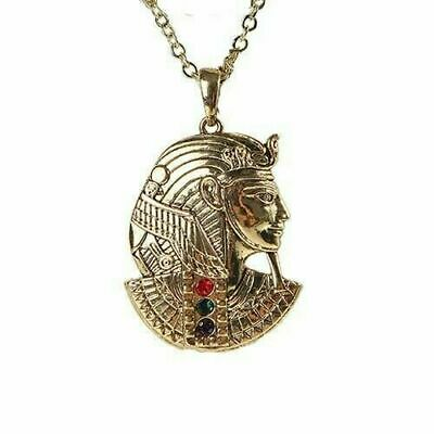 Golden King Tut Ancient Egyptian Pendant Lead Free Alloy Necklace Accessory