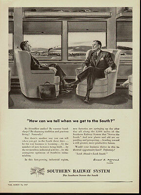 1946 vintage travel ad, SOUTHERN RAILWAY SYSTEM, 'Serves the South!' - (071813)