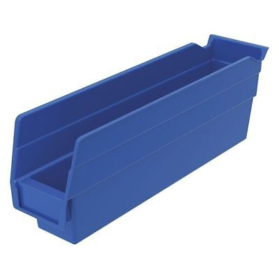 "Blue Shelf Bin, 11-5/8""L x 2-3/4""W x 4""H AKRO-MILS 30110BLUE"
