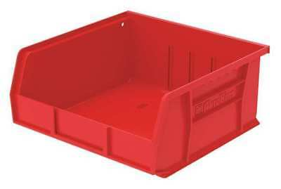 "Red Hang and Stack Bin, 10-7/8""L x 11""W x 5""H AKRO-MILS 30235RED"