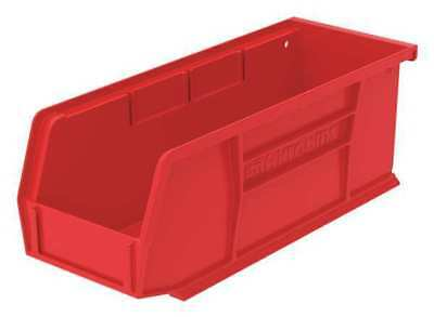 "Red Hang and Stack Bin, 7-3/8""L x 4-1/8""W x 3""H AKRO-MILS 30220RED"