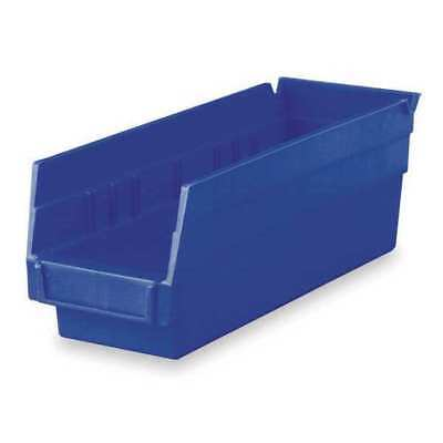 "Blue Shelf Bin, 11-5/8""L x 4-1/8""W x 4""H AKRO-MILS 30120BLUE"
