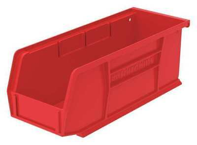 "Red Hang and Stack Bin, 10-7/8""L x 4-1/8""W x 4""H AKRO-MILS 30224RED"