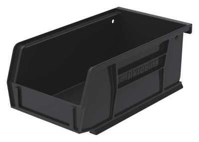 AKRO-MILS 30220BLACK Hang/Stack Bin, 7-3/8 x 4-1/8 x 3, Black