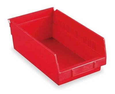 "Red Shelf Bin, 11-5/8""L x 6-5/8""W x 4""H AKRO-MILS 30130RED"