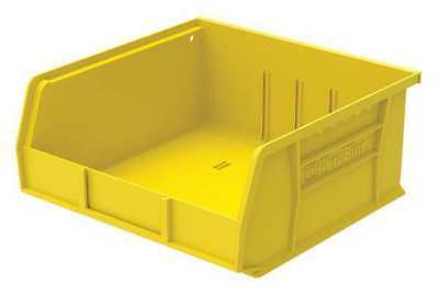 "Yellow Hang and Stack Bin, 10-7/8""L x 11""W x 5""H AKRO-MILS 30235YELLO"