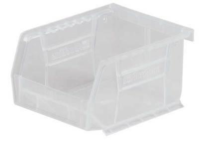 "Clear Hang and Stack Bin, 10-3/4""L x 8-1/4""W x 7""H AKRO-MILS 30239SCLAR"