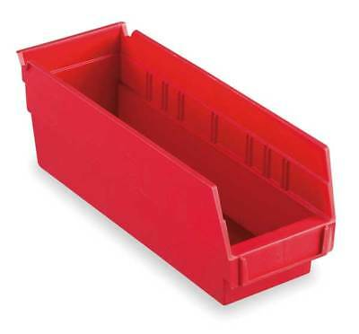 "Red Shelf Bin, 11-5/8""L x 4-1/8""W x 4""H AKRO-MILS 30120RED"