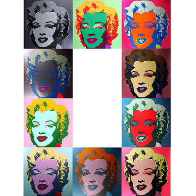 ANDY WARHOL Pop Art - Sunday B Morning - Marilyn Monroe -10 Screen prints + COA