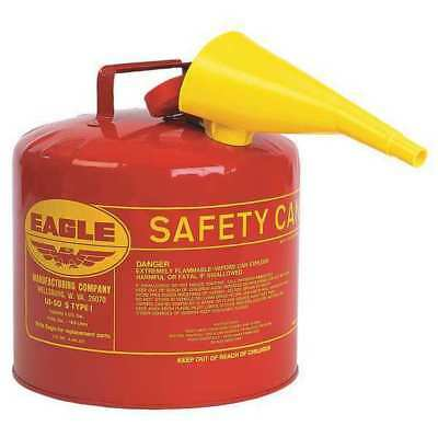 EAGLE UI-50-FS Type I Safety Can, 5 gal, Red