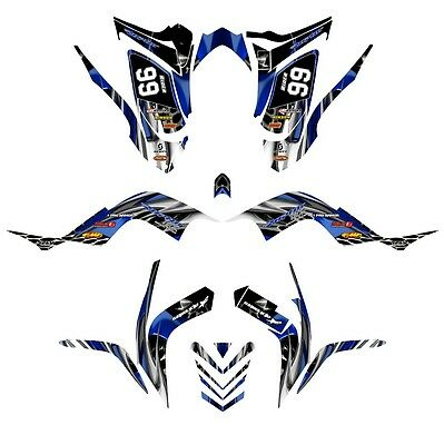 Yamaha Raptor 700 graphics 2006-12 full coverage decal kit NO4444 blue tribal