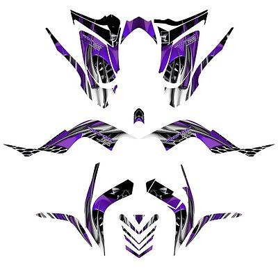 Yamaha Raptor 700 graphics 2006 - 2012 full coverage sticker kit NO4444 purple