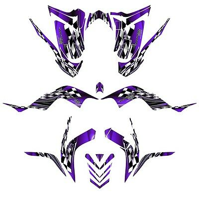 Yamaha Raptor 700 graphics 2006-12 full coverage racing deco kit NO2500 purple