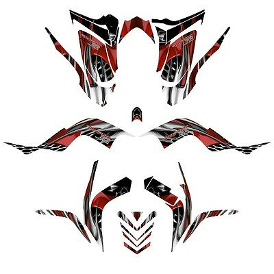 Yamaha Raptor 700 graphics 2006-12 full coverage racing sticker kit NO4444 red