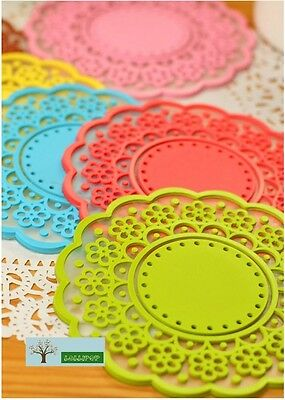 Silicone Lace Coasters Cup pad in floral design