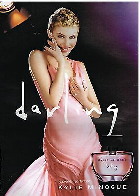 Publicité Advertising 2007 Darling ,le premier parfum de Kylie Minogue