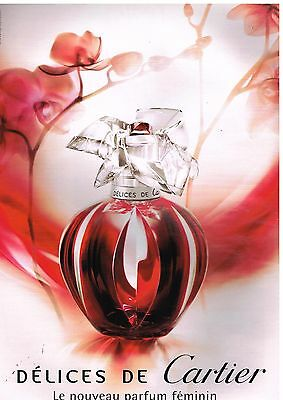 Publicité Advertising 2007 Parfum Délices de Cartier