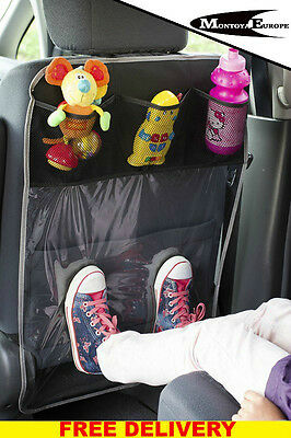 Car Seat Protector with 3 pockets  GREY