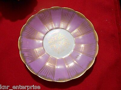 Royal Sealy China Tea Saucer Pearlescent LIGHT PURPLE / PINK