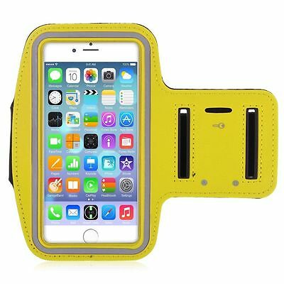 """iPhone 6 4.7"""" Yellow Premium Sports Armband Cover Case Running Gym Workout"""