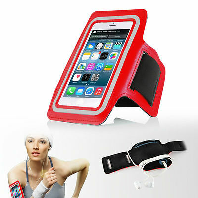 """iPhone 6 4.7"""" Red Premium Sports Armband Cover Case Running Gym Workout"""
