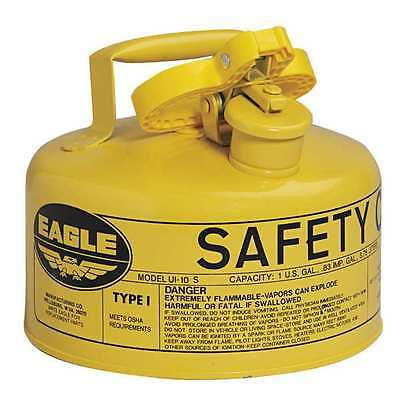 EAGLE UI-10-SY Type I Safety Can, 1 gal., Yellow, 8In H