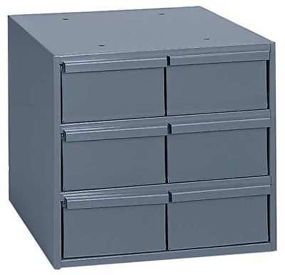 DURHAM 001-95 Drawer Bin Cabinet, 11-5/8 In. D, Gray