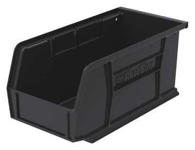 "Black Hang and Stack Bin, 10-7/8""L x 5-1/2""W x 5""H AKRO-MILS 30230BLACK"