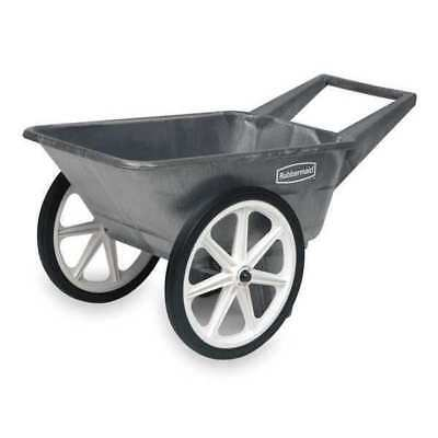 RUBBERMAID FG565461BLA Big Wheel Cart,HD,1/8 cu. yd.,200 lb.