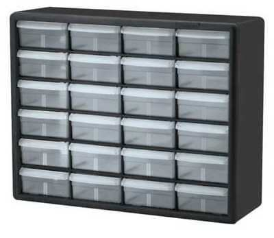 Drawer Bin Cabinet, 6-3/8 In. D, 20 In. W AKRO-MILS 10124